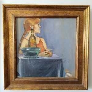OIL PAINTING PORTRAIT: professionally framed